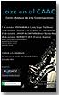 Cartel programación mes de octubre del ciclo Jazz en el CAAC