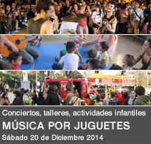 Música por juguetes [conciertos, talleres, actividades infantiles] -  Navidad 2014