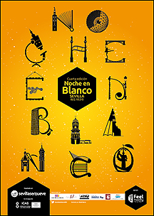 Cartel Noche en Blanco Sevilla 2015 [pulsa para ampliar]
