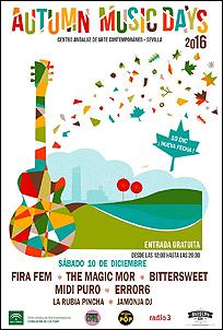 Cartel Autumn Music Days - 2016 (Centro Andaluz de Arte Contemporáneo)