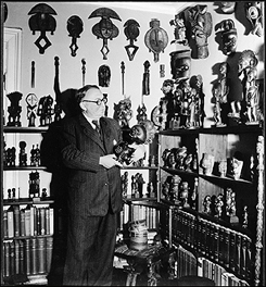 Carl Kjersmeier with his collection. National Museum of Denmark