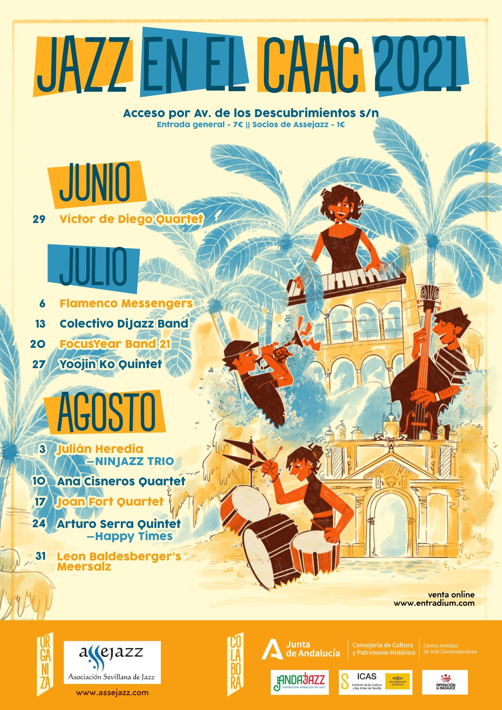 Jazz en el CAAC. Conciertos - Verano 2021