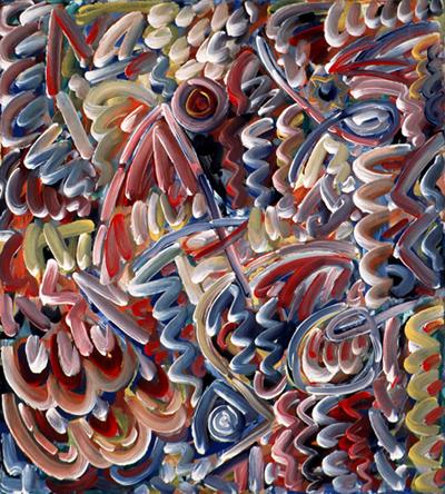 JOSÉ MARÍA BERMEJO. Meteoro III, 1983. Acrílico sobre lienzo. 132 x 120 cm