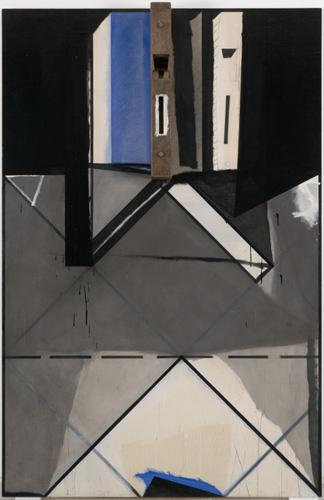 JOS� RAM�N SIERRA. El cepillo de Jim�nez, 1983. Acr�lico sobre madera encolada. 190 x 125 x 13 cm