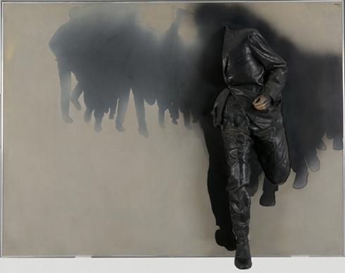 RAFAEL CANOGAR. La escapada, 1971. 166 x 222 x 34 cm. Pintura sintética sobre tela