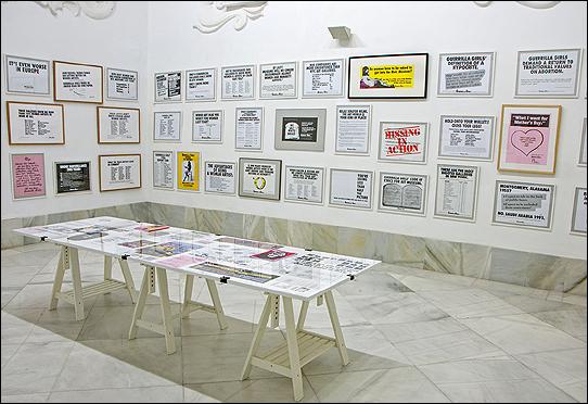 GUERRILLA GIRLS. Portfolio Complet, 1985/2012. Offset/impresión digital (89 carteles, 4 libros y 2 boletines). Medidas variables