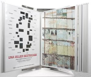 IGNASI ABALLÍ. Desapariciones II, 2005. Ed. nº 2/3. 145 x 115 x 76 cm. Fotografía digital y expositor para carteles.