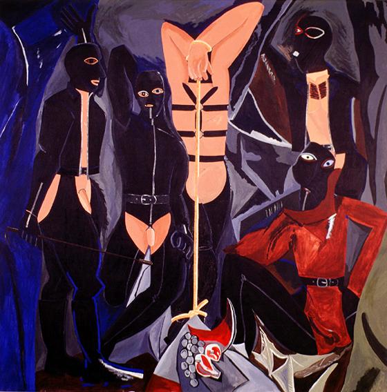 RAFAEL AGREDANO. La chambre en noir. 1995-96. 195,5 x 195,4 x 2,5 cm. Óleo sobre tela