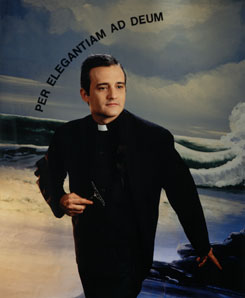 RAFAEL AGREDANO. Per elegantiam ad Deum, 1992. Serie Retratos del artista como un poquito jesuita. Nº Edición 2/2. 148 x 121 cm. Fotografía (cibachrome)