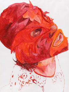 ÁNGELES AGRELA. Sin título, 2003-2005. Serie La Elegida, nº 141. 200 x 150 cm. Acrílico sobre papel para acuarela
