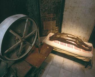 LOUISE BOURGEOIS. Celda (arco de histeria), 1992-93. 302 x 480 x 300 cm. Acero, bronce, madera, hierro colado y tela