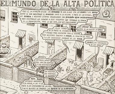 MIGUEL BRIEVA. Alta política, 2009. 32,5 x 23 cm. Tinta negra sobre papel
