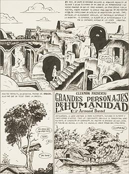 MIGUEL BRIEVA. Grandes personajes de la Humanidad: Armand Basset, 2006. 4 piezas de 35 x 46 cm c/u. Tinta negra sobre papel