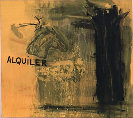 RICARDO CADENAS. Alquiler, 1985 Acrílico y pigmentos sobre lona. 200 x 224,5 x 3 cm