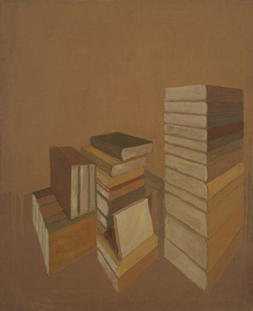 SALOMÉ DEL CAMPO. Libros, 1989. Óleo sobre tela. 162 x 130,5 x 2 cm