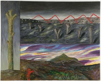 PATRICIO CABRERA. Sin título, 1996. 268 x 333 cm. Óleo sobre tela