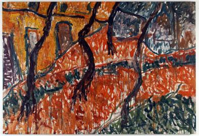 LUIS CLARAMUNT. La Alameda, 1985.  190 x 280 cm. Óleo sobre tela