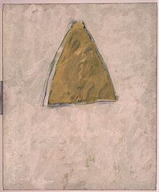 GERARDO DELGADO. Triángulo ocre, 1982. 195 x 160 cm. Carboncillo y acrílico sobre lienzo