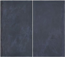 GERARDO DELGADO. Doble cristal opaco-negro, 1977. 142 x 164 x 3,3 cm. Temple vinílico sobre madera