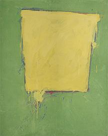 GERARDO DELGADO. Sin título, (El cubo) 1981. 101,5 x 82,5 x 3,5 cm. Temple vinílico sobre madera entelada