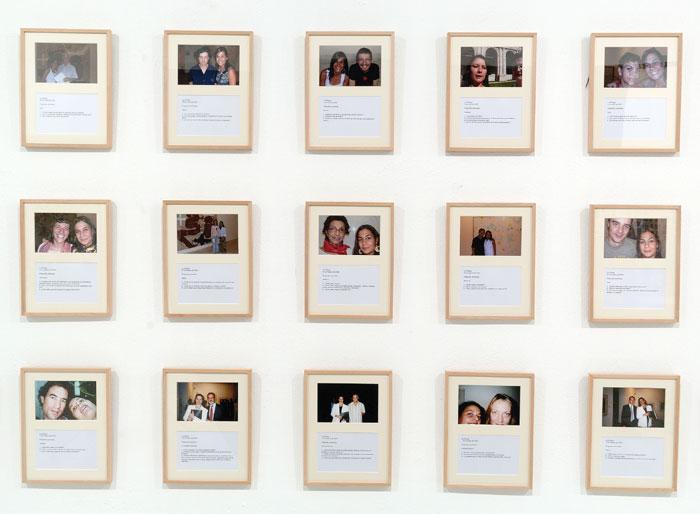 DORA GARCÍA. La esfinge, 2004-2006. 32 x 26 cm. c/u. 164 fotografías