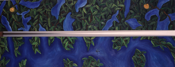 CURRO GONZÁLEZ. Sin título, 1986. Óleo sobre lienzo. 2 piezas de 45,2 x 250 x 2 cm c/u.