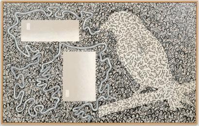 LUIS GORDILLO. En forma de fábula, 1988. 155 x 250 cm. Acrílico sobre lienzo.