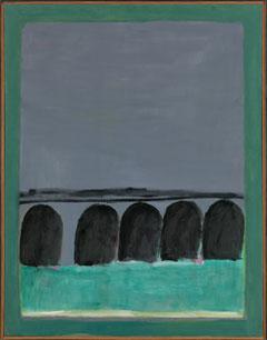JOSÉ GUERRERO. En la casa de Velázquez, 1971. 146 x 114 cm. Óleo sobre tela.