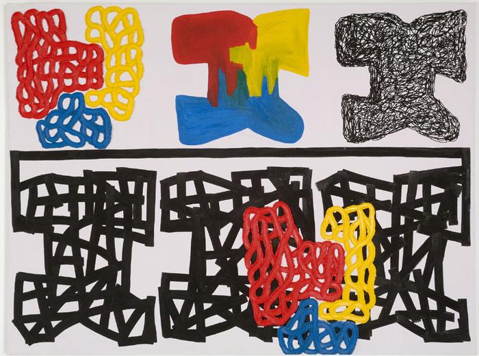 JONATHAN LASKER. Interpretative painting, 1994. 190,7 x 253,8 cm. Óleo sobre tela