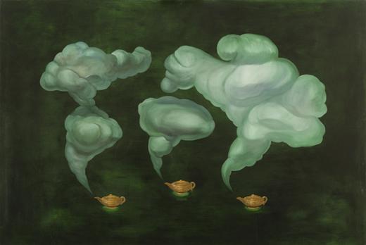 JOSÉ MARÍA LARRONDO. Smoke, 1990. Óleo sobre tela. 130 x 195 cm