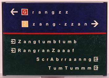 ROGELIO LÓPEZ CUENCA. Grangzz, 1988. 113,5 x 161,5 cm. Óleo sobre lienzo