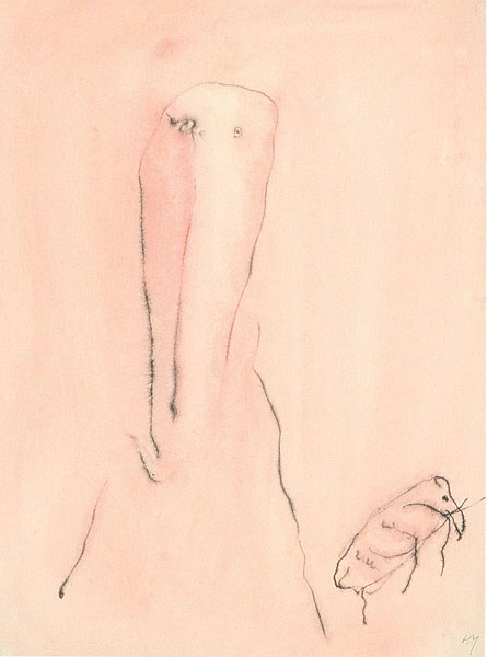 HENRI MICHAUX. Sin título, 1946-47. 31,8 x 24 cm. Acuarela y tinta china sobre papel