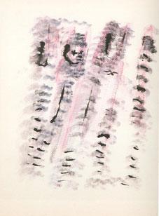 HENRI MICHAUX. Sin título, 1981-82. 39,3 x 27,52 cm. Acuarela y tinta china sobre papel