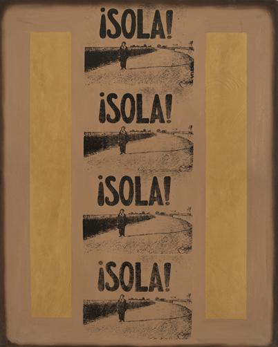 MOISÉS MORENO. Sola, 1987.Mixta sobre tela. 162 x 130 cm