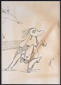 BENJAMÍN PALENCIA. Sin título, 1934. 29 x 20,5 cm. Tinta sobre papel