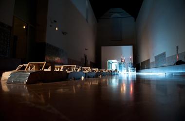 JESÚS PALOMINO. Stop TV. Holy World, 2004 Instalación. Técnica y materiales diversos