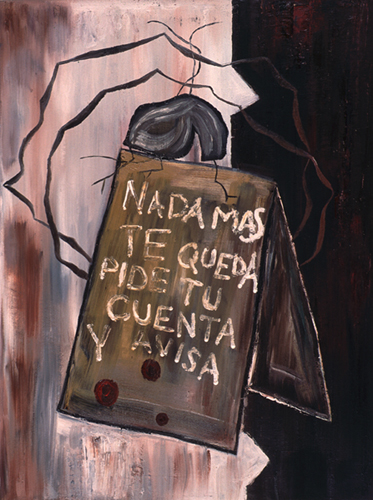 GUILLERMO PANEQUE. S/T, 1985. Óleo sobre tela. 88,6 x 67,2 x 1,8 cm