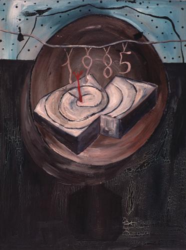 GUILLERMO PANEQUE. S/T, 1985. Óleo sobre tela. 89 x 67 x 2,2 cm