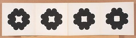 MANOLO QUEJIDO. Secuencia, 1971. 24 x 1008 cm. Acrílico sobre cartulina