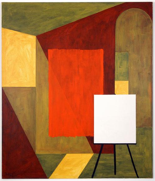 MANOLO QUEJIDO. Tabique VII, 1991. 200 x 233 cm. Acrílico sobre lienzo, aluminio, hierro y resistencias