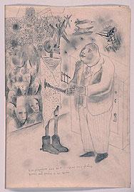 ANTONIO RODRÍGUEZ LUNA. Boceto para cartel, 1936. 51 x 41,4 x 4 cm (con marco). Grafito sobre papel