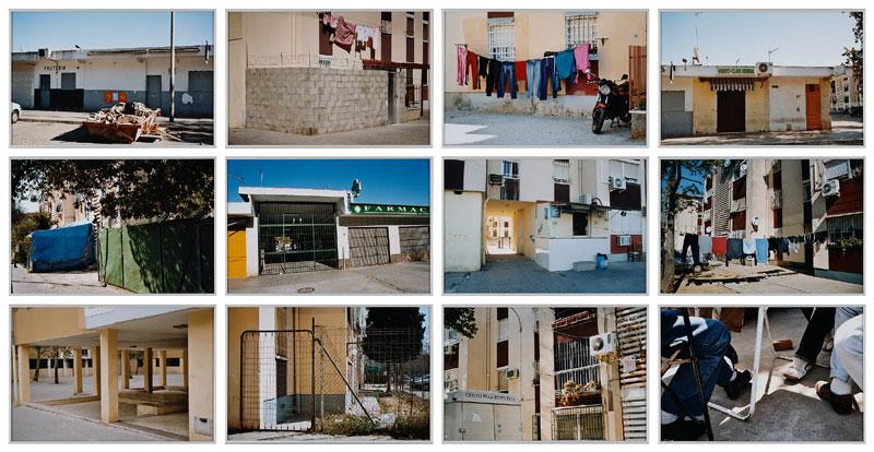 JUAN CARLOS ROBLES. Ciudad habitada (políptico), 2005. Nº edición 1/6. 12 piezas 30 x 45 cm. c/u. Foto color enmarcada en aluminio