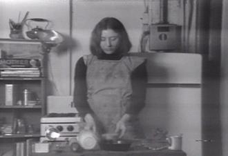"MARTHA ROSLER. Semiotics of the Kitchen, 1975. DVD, 5'30"""
