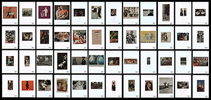 INMACULADA SALINAS. Prensadas, 2009. 29,7 x 21 cm c/u. Collage sobre cartulina
