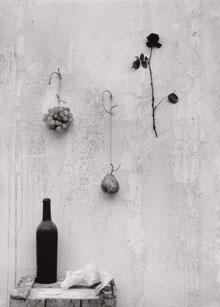 ALBERTO SCHOMMER. Bodegón, 1961 (Copia moderna,  2006). 49 x 36 cm. Fotografía en blanco y negro