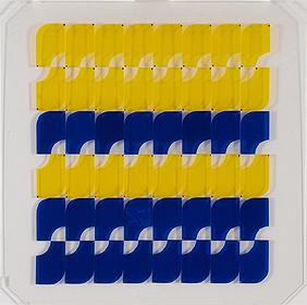 SOLEDAD SEVILLA. Estructura modular Nº2, 1970. 75 x 75 cm. Placas y plancha de matecrilato con tornillos