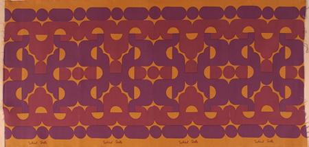 SOLEDAD SEVILLA. Sin título, 1975. Serigrafia y tinta sobre tela. 81 x 166 cm