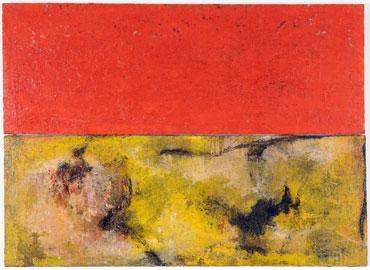 JOSÉ MARÍA SICILIA. Flor roja, 1986. 180 x 251 cm. Acrílico y carga matérica sobre tela