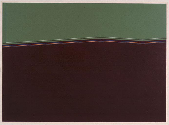 JOSÉ SOTO. Sin título, 1970. 83 x 108 cm (con marco). Pintura sobre papel