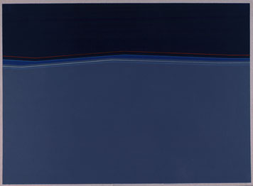 JOSÉ SOTO. Sin título, 1971. 68,3 x 93 cm. Pintura sobre papel